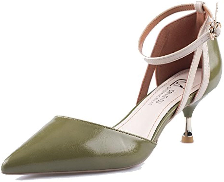 5ded884528d182 Femmes Escarpins Talons Hauts Sexy Pointu Toe Dress Party Court Chaussures,Green-6cm-EU:34/UK:2B07CHFM6DQParent    Soldes   Durable Dans L'utilisation 60b380