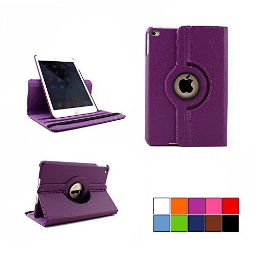 COOVY® Cover für Apple iPad mini 4 Retina ROTATION 360° SMART HÜLLE TASCHE ETUI CASE SCHUTZ STÄNDER | Farbe lila