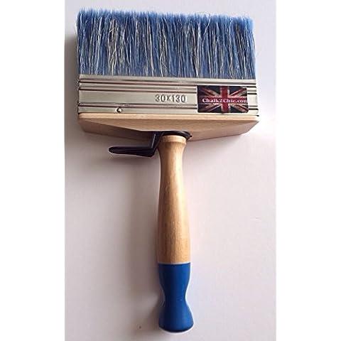 #LB2-XL-CHALK PAINT pro 130 mm, stile SHABBY CHIC, con setole lunghe, da parete, per mobili, colore: blu