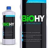 Biohy – Detergente multiuso per alcol, detergente universale (1 litro di bottiglia) – Detergente professionale – Detergente biologico, senza etichettatura, sostenibile ed economico