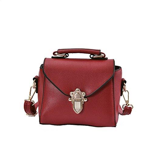 KYFW Womens Fashion Lock Handtasche Schulter Diagonal Gezeiten Kleine Square Bag D