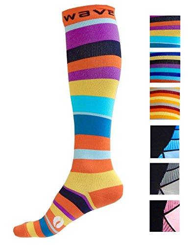 Tomaten-schuhe (Kompression Socken (1Paar) für Damen & Herren von Wave–Beste für Running, Leichtathletik, Crossfit, Flight Reisen, Still Schwangerschaft,)