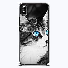 a4cbf6f37f584e 1001 Coques Coque en Silicone pour Wiko View 2 - Chat Yeux Bleu