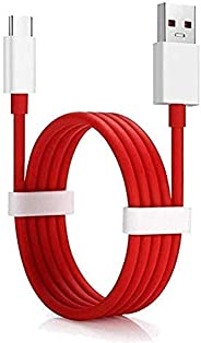 (Renewed) RSC POWER+ Compatible Dash/Warp Data Sync Fast Charging Cable Supported for All C Type Devices (Red