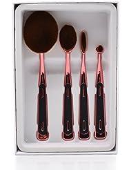 Dolovemk (4+ 3) Pro de beauté Cosmétique Kits ovale Pinceaux de maquillage + éponge de beauté mixeurs