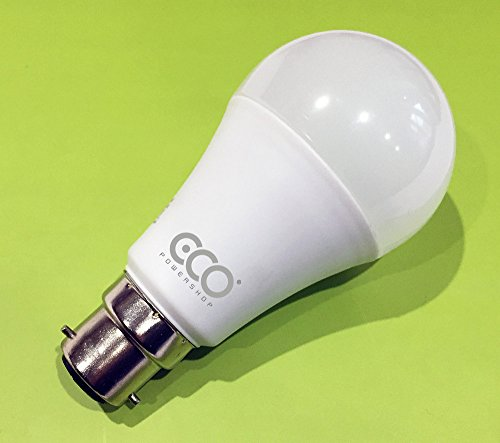 3 Pin BC3 NON-DIMMABLE 12W Energy Saving LED Light Bulb, Warm White (3000K), 6000Hrs+ Lifetime.