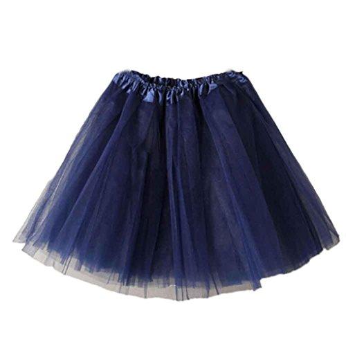 terkleid Kurz Ballett Tanzkleid Ballklei Abendkleid 50er Jahre Petticoat Vintage Retro Reifrock Unterrock für Wedding Bridal Rockabilly Kleid (Navy, 50CM-100CM/19.7-39.4) (Party-stadt 50er Jahre)