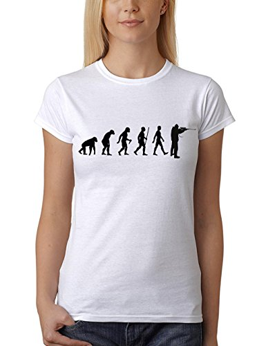 clothinx Damen T-Shirt Jäger Evolution Weiß