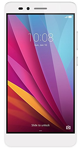"Honor 5X - Smartphone libre de 5.5"" (Bluetooth 4.1, 1.5 GHz Octa-Core, Qualcomm, 2 GB de RAM, 16 GB de memoria interna, cámara de 13 MP/5 MP, LTE, Android 5.1), color plata"