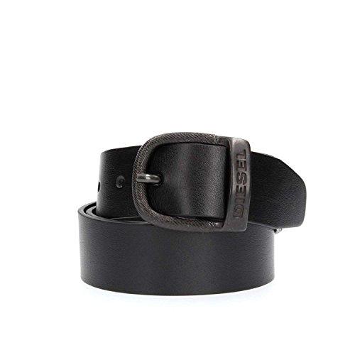 Diesel Uomo Nero BAWRE Faux Leather Cintura-Size 100 cm