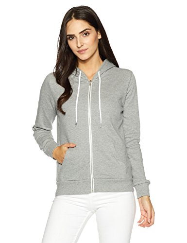 Forever 21 Women's Cotton Jacket (00087091012_0008709101_Heather Grey_2_)