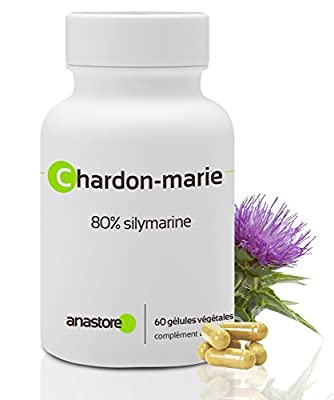 Milk thistle * 200mg/60 capsules * 80% SILYMARIN * Combats liver disorders and cirrhosis * Combats heavy bleeding * Made in FRANCE by Anastore