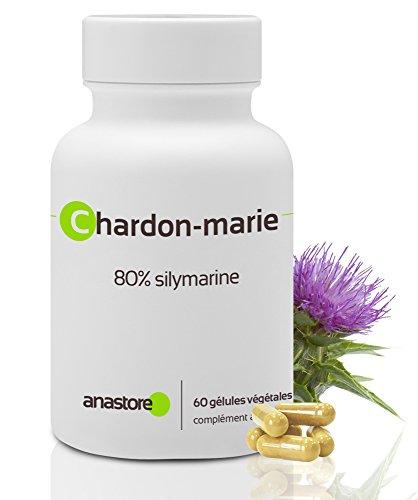 Chardon-marie * 200mg/60 gélules * 80% en SILYMARINE * Contre les troubles du foie et la cirrhose * Contre les saignements abondants * Fabriqué en FRANCE