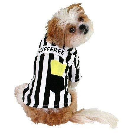 Rufferee Schiedsrichter Hunde Fasching Halloween Karneval Kostüm ()