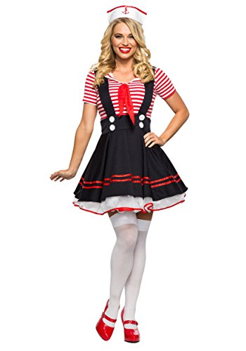 Women's Retro Sailor Girl Fancy dress costume Medium