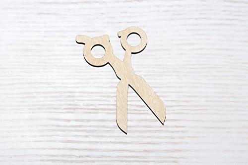 Juego 10 tijeras madera contrachapada cortadas láser