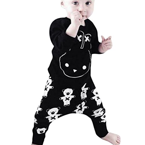 SHOBDW Boys Clothing Sets, Newborn Girls Fashion Cool Cartoon Letter Print Long Sleeve Tops Shirt + Pants Infant Baby Outfits Gifts