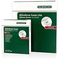 KLINIDERM Foam silicone Border 15x15 cm 5 St Verband preisvergleich bei billige-tabletten.eu