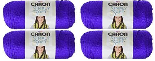 Caron Simply Soft - Pack Of 4 Balls - 170G Each Ball - Iris (Caron Baby)