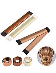 Chignon magique, 3 PCS Accessoires de Coiffure, Bun Maker Set d'Outils de Coiffure Cheveux Coiffure Stylisée Accessoire Cheveux Filles