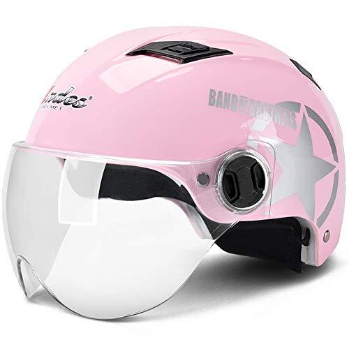 Fahrrad Damen Sommer dünne halbmaske Helm Sonnencreme persönlichkeit (einheitlicher Code) ()