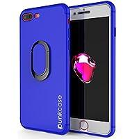 punkcase iPhone 8 Plus Caso Magnetix TPU Cubre con Pata de Cabra Anillo Agarre Soporte Metal
