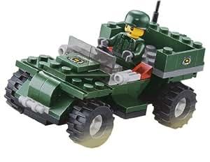 JIE-STAR 23011 92 Piece Series Kit militaire Guerre Parade militaire de reconnaissance de voiture de l'Assemblée