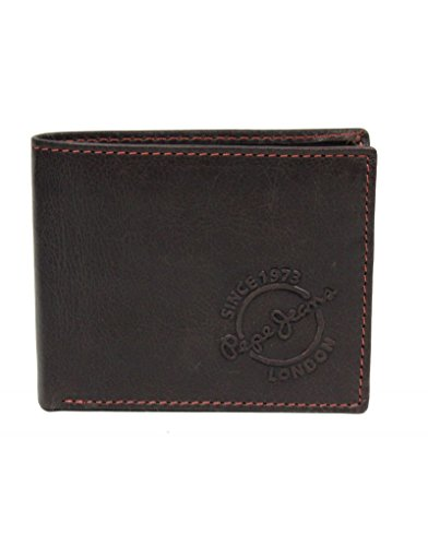 Porte-monnaie en cuir Pepe Jeans marron
