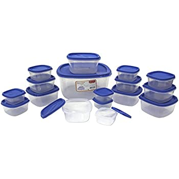Princeware SF Pak Container Set, 17-Pieces, Blue