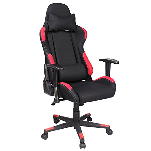 Modrine Racer Gaming Stuhl Bürostuhl Computerstuhl Schreibtischstuhl mit Lendenkissen,...