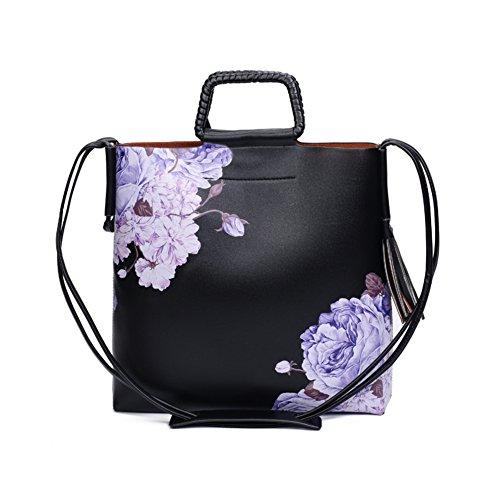 borsa stampa stile cinese/Stampa moda fiore Magnolia diagonale tracolla verticale-A A