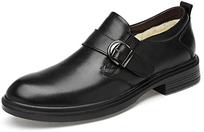 IWGR Men's Business Oxford Casual Classic Fibbia in Metallo con Fibbia Decorazione Faux Fleece Inside Slip On... | Prezzo economico  | Uomo/Donne Scarpa