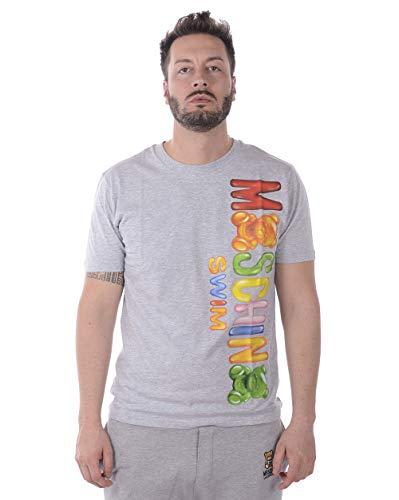 Moschino swim - t-shirt uomo a19112325 a1911 2325 grigio xxl