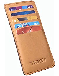 ABYS Genuine Leather Tan Unisex Credit Card Case||Card Holder||Visiting Card Case With 10 Card Slots
