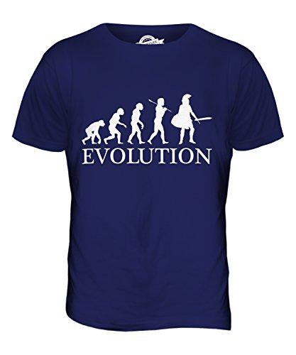 taner Evolution Des Menschen Herren T Shirt, Größe 2X-Large, Farbe Navy Blau (Blauer Spartaner Kostüm)