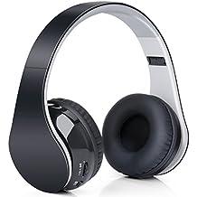 Headphones Bluetooth Stereo Over-ear,Cuffia Stereo Dinamica Chiusa Wireless Sportiva ad alta fedeltà Mp3 con 3.5mm (Bi Direzionale Stereo Audio)