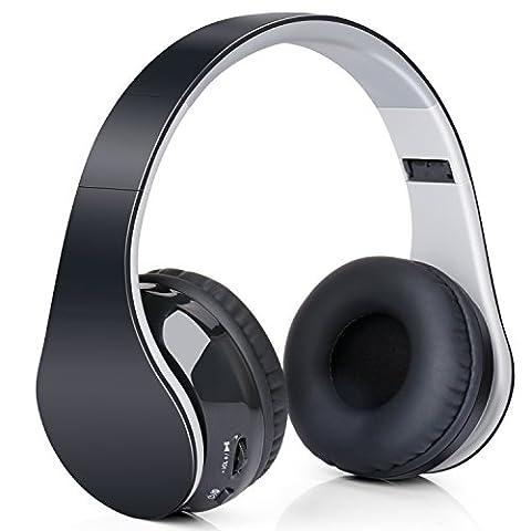 Casque studio-audio bluetooth Stéréo à arceau Réductuion de bruit Quiet Confort sans fil pour tous les appareils bluetooth