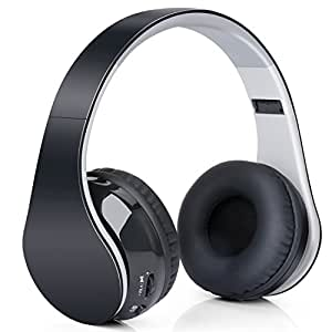 Headphones Bluetooth Stereo Over-ear,Cuffia Stereo Dinamica Chiusa Wireless Sportiva ad alta fedeltà Mp3 con 3.5mm Jack & Microfono Riduzione Rumore per IPhone, Android, Pc ed altri Dispositivi Bluetooth