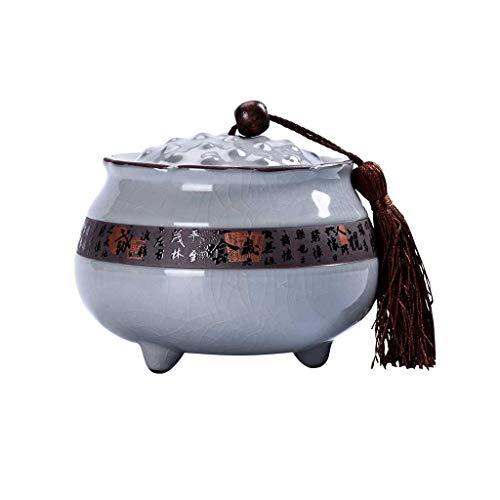 AUGAUST Récipient de Stockage de thé en céramique, Grand diamètre, Facile à Prendre, Facile à Nettoyer et à sceller 600ml (Couleur : A, Taille : 600ML)