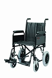 "Drive DeVilbiss Healthcare SD2 Aluminium Transit Wheelchair in Black (16"" Seat Width)"