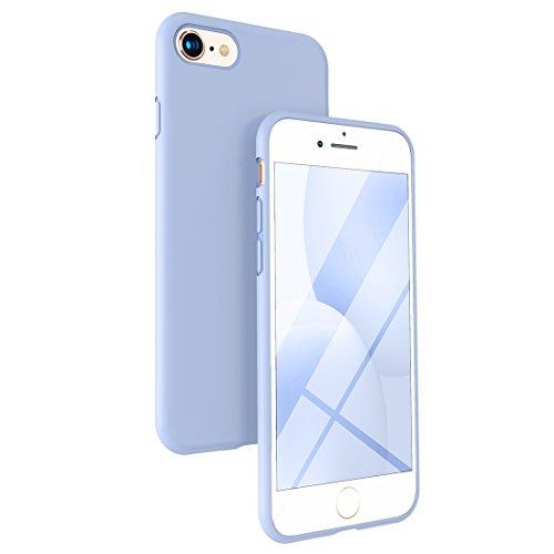 humixx Funda iPhone 8, Funda iPhone 7, Ultra Suave Silicona Gel TPU Goma Flexible Cover con Cojín Tela De Microfibra, Antideslizante y Anti-Arañazos Case Cover Cascara Protectora/Silk Series/