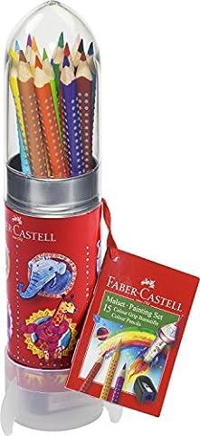 Faber-Castell 112457 - Malset Colour Grip Rakete, 15