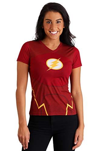 (DC Comics The Flash Women's Character Fancy Dress Costume T-Shirt 2X)