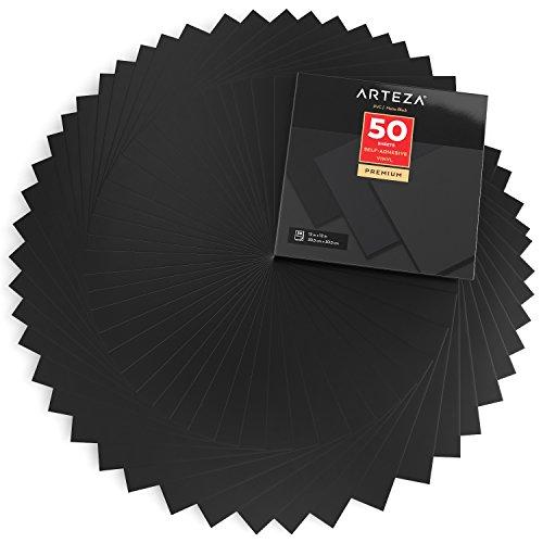 ARTEZA Láminas vinilo adhesivo | Color negro mate