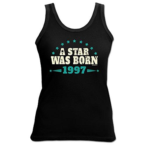 TankTop T-Shirt ::: A Star was Born 1997 ::: zum Geburtstag Schwarz