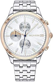 Tommy Hilfiger Womens Quartz Wrist Watch, Chronograph and Stainless Steel- 1782122