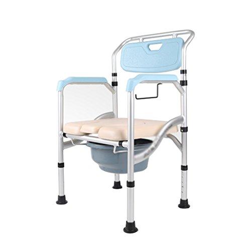 MyAou-commode Personnes âgées Chaise d'aisance Pliable Femme Enceinte Toilettes handicapés Toilettes Mobiles Tabouret sécurité Toilettes