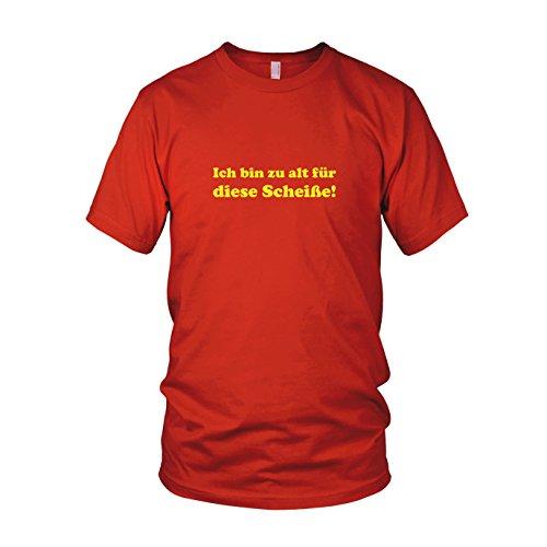 Ich bin zu alt für diese Scheiße! - Herren T-Shirt, Größe: XL, Farbe: (John Langsam Stirb Mcclane Kostüm)