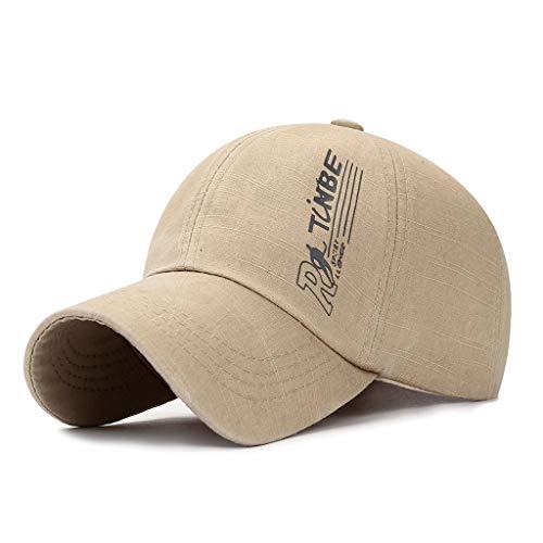 EUCoo_hat Unisex Baseball Cap Racing Cap Baumwolle cool Lokomotive Cap Truck Fahrer Kappe(Beige) - Toyo Hat