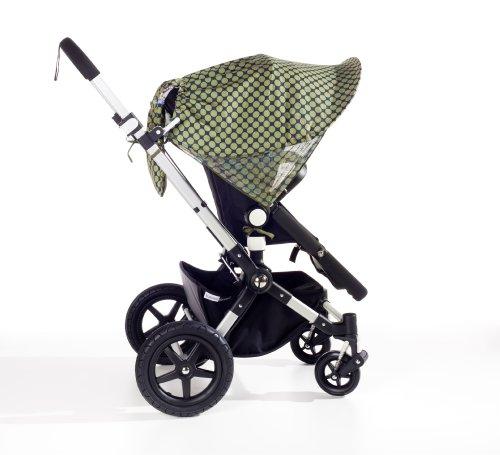Sonnette Sonnenschutz Sonnendach Sonnensegel Sonnenverdeck ® single UPF 80+ für Kinderwagen Emery green